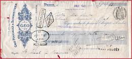 Geo Foucault & Schweitzer. Paris. 1931 - Cheques & Traverler's Cheques