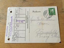 K15 Deutsches Reich 1927 Karte Von Dorndorf PERFIN - Storia Postale