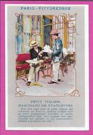 Petit Italien Marchand De Statuettes / Paris Pittoresque / CPA 1903 / Chapeau Canotier Art Terrasse Café  / TB - Marchands Ambulants
