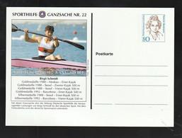 "Bundesrepublik Deutschland - Sporthilfe-Postkarte Nr. 22 ""Birgit Schmidt, Kanu"" ** (E746) - Private Postcards - Mint"