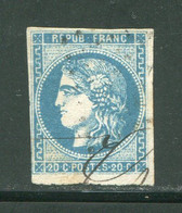 FRANCE- Y&T N°46A- Oblitéré - 1870 Bordeaux Printing