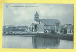 * Houdeng Aimeries (La Louvière - Hainaut - La Wallonie) * (SBP, Nr 5) Canal Du Centre Et église, Quai, Church, TOP Rare - La Louvière