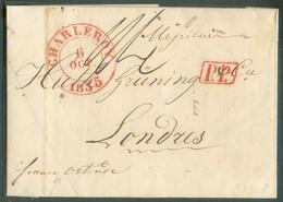 LAC De CHARLEROYle 6 Octobre 1835 + Griffe ManuscriteFRANCO OSTENDE(Rare) Vers London. TB - 17103 - 1830-1849 (Unabhängiges Belgien)
