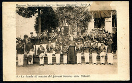 CV3663 BRASILE 1922 La Banda Dei Giovani Bororos Delle Colonie, Vecchia Cartolina Pubblicata Dalle Missioni Italiane, Vi - Other