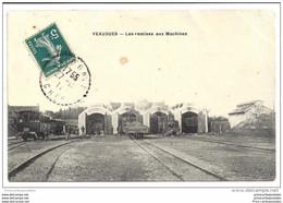 CPA 18 Veagues Les Remises Aux Machines Et Le Train Le Depot - Autres Communes