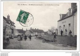 CPA 18 Saint Hilaire De Court La Grande Rue Et La Poste - Autres Communes