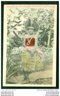 CPA Samoa The Head Maiden Of A Samoan Village Published By Karl Lewis Yokohama - American Samoa