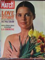 Paris Match N°1142 (27 Mars 1971) Ali Mac Graw - La Commune - Morts Des Marins En Manche - General Issues