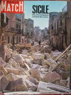 Paris Match N°981 (27 Janv 1968) Tremblement De Terre En Sicile - Histoire Des Vrais Bonnie Et Clyde - Goitschel - General Issues