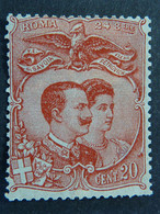 """ITALIA Regno -1896- """"Nozze V.E III Elena""""  C. 20 Non Emesso MH* (descrizione) - Neufs"""