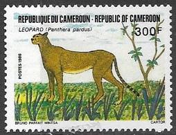 Cameroun 1986  Sc#824  Cheetah  MH  2016 Scott Value $3.50 - Cameroon (1960-...)
