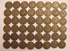France. Lot De 48 Pièces De 1 Francs. 1921/1925. Bon Pour, Chambres De Commerce Industrie - H. 1 Franco
