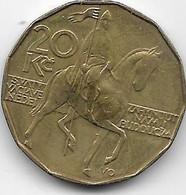 République Tchèque - 20 Korun - 1993 - SUP - Tschechoslowakei
