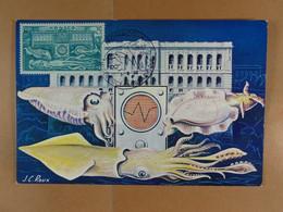 Monaco Cinquantenaire Du Musée 1910-1960 Le Musée Evocation Des Recherches Scientifiques - Maximumkarten (MC)