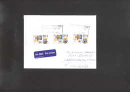 Football - Soccer WC 2014  Cover Of Canada With 3 Personal Stamps - 2014 – Brazilië