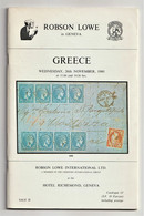 GREECE, Robson Lowe Auction Catalogue 1980, Large Hermes Heads, Postal History Etc. - Cataloghi Di Case D'aste