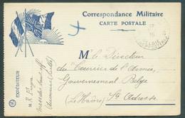 Correspondance Militaire C.P. En SM Obl. Sc POSTES MILITAIRES BELGIQUE 8 Du 17VIII-1915 Vers Le Gouvernement Belge à Ste - Esercito Belga
