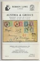 AUSTRIA & GREECE, Robson Lowe Auction Catalogue 1981, Large Hermes Heads, Postal History Etc. - Catálogos De Casas De Ventas
