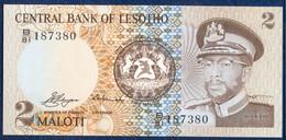 LESOTHO LESOTO 2 MALOTI P-4a KING MOSHOESHOE II 1981 UNC - Lesotho