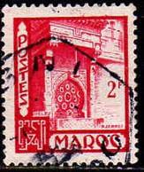 Maroc (Prot.Fr) Poste Obl Yv:280 Mi 299 Yv:0,2 Euro Fès Fontaine Nedjarine (TB Cachet Rond) - Usati