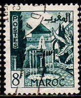 Maroc (Prot.Fr) Poste Obl Yv:283 Mi 302 Yv:0,4 Euro Meknès Jardins De Djamai (cachet Rond) - Usati