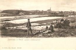 Genck / Genk : Panorama à Genck ( Campine Limbourgeoise ) 1909 - Genk