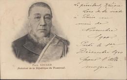 CPA Paul Kruger Président De La République Du Transvaal Lors De Sa Visite à Paris 1900 Guerre Des Boers - Personnages