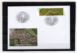 BRD, 2021, FDC (individuell) Mit Michel 3583/84 Sk, Erstverwendungsstempel, Deutschland Von Oben/Siedlung In Lübeck - FDC: Brieven