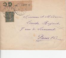 FRANCE SEMEUSE LIGNEE 1iere SERIE TYPE V BORD DE FEUILLE PAPIER GC 1917 MERVILLE NORD - 1903-60 Semeuse A Righe