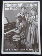 Postkarte Tag Der Deutschen Hausmusik Um 1935 - Storia Postale