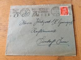 K15 Deutsches Reich 1928 Brief Mit Mwst. Von München Dürer-Jahr - Storia Postale