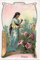 Carte Chromo  Fleur, Costume Et Pays -   TABAC   PHILIPPINES - Non Classificati