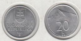 SLOVAQUIE  20 Halierov  2001  SLOVENSKA  20h - Slovakia