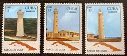 1980, Mi 2512-2514 New Complete Series, Cuba - Neufs