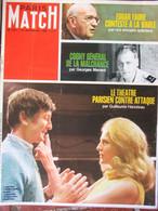 Paris Match N°1011 (21 Sept 1968) Tragédie De La Caravelle - Théâtre Parisien - Général Cogny - E Faure - General Issues