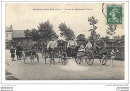 CPA 18 Brinon Sur Sauldre Course De Voitures à Chiens - Brinon-sur-Sauldre