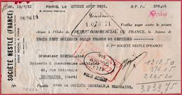 Société Nestlé France. Paris. 1931 - Cheques & Traverler's Cheques