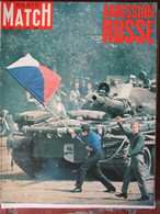 Paris Match N°1008 (31 Août 1968) L'agression Russe En Tchécoslovaquie - Goufre Berger - Delon/Schneider - General Issues