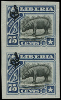 LIBERIA Service (*) - 54, Paire Non Dentelée: 75c. Hippopotame - Liberia