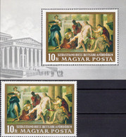 Gemälde 1968 Ungarn 2472+Block 67 ** 8€ Maler Ricci Bathseba Im Bad S/s Art Bloc Paintings Sheet Bloque Bf Hungary - Madonnas