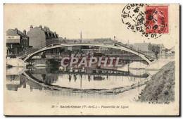 Saint Omer - Passerelle De Lysel - CPA (boeuf Taureau) - Saint Omer