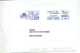 Lettre Flamme Ema Charleville Transport Archeveau - EMA (Printer Machine)
