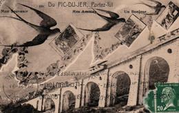 Du Pic Du Jer, Portez-lui Mon Souvenir, Mes Amitiés, Un Bonjour - Hirondelles Et Train à Crémaillère - Carte N° 660 - Gruss Aus.../ Gruesse Aus...