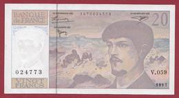 "20 Francs ""Debussy"" ----1997----ALPH .V.059 -------- Dans L 'état - 20 F 1980-1997 ''Debussy''"