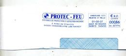 Grand Fragment De Lettre Flamme Ema Vandoeuvre Protection Incendie  Protec-feu Theme Pompier - EMA (Printer Machine)