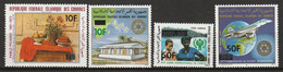 COMORES - Poste Aérienne N°189/92 ** (1981) Surchargés - Comoros