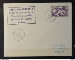 01 - 21  // Réunion - Lettre 1er Jour - N° 293 - Droit De L'homme à Destination De Paris - Storia Postale