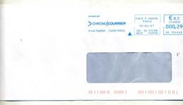 Lettre Flamme Ema Paris Chrono Courrier - EMA (Printer Machine)