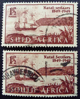 Afrique Du Sud South Africa 1949 Bateau Boat Durban Yvert 170 171 O Used - Usati