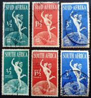 Afrique Du Sud South Africa 1949 UPU Yvert 172-177 O Used - Usati